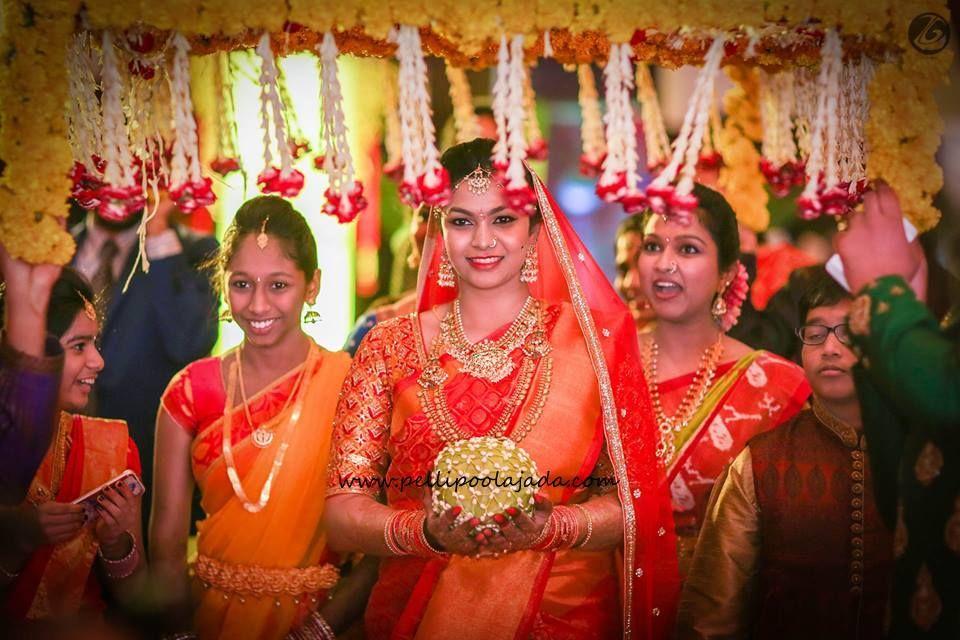Bridal Entry with netted kobbari bondam | Kobbari bondam in