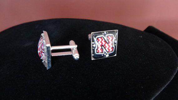 Go Big Red Nebraska Cornhuskers Cufflinks UNL by BrunosBling, $12.00