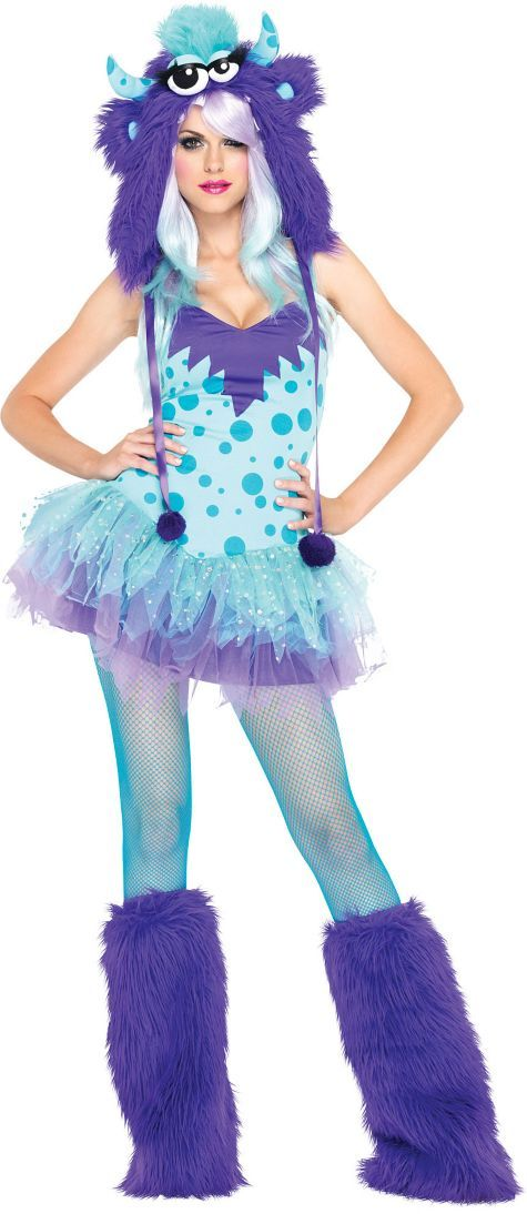 Girly Sully Costume. Yes please! Time to buy fabric!!  sc 1 st  Pinterest & Adult Polka Dotty Monster Costume | Pinterest | Sully costume ...