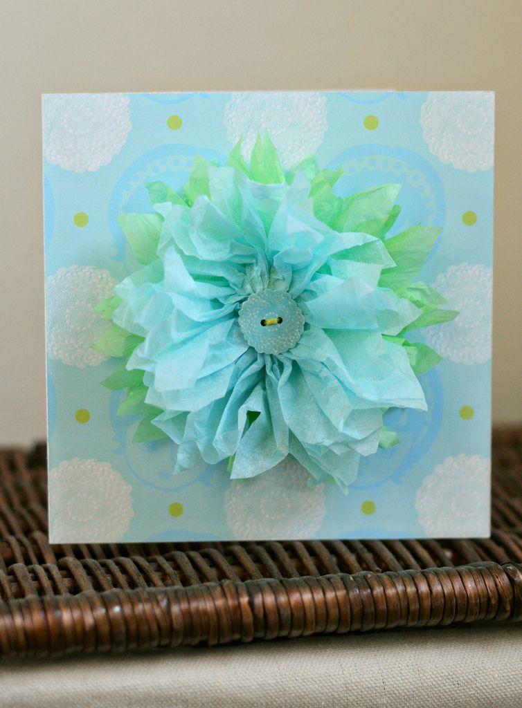 Tissue flowers tutorial no2 tissue paper tissue paper flowers creative tissue paper flowers on homemade cards mightylinksfo