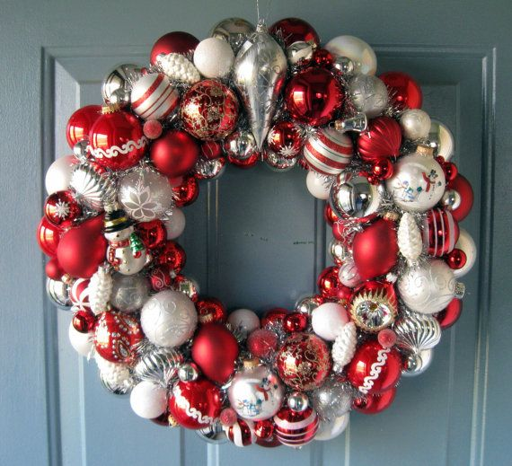 Christmas Wreath Vintage Ornaments FREE Shipping by judyblank ...