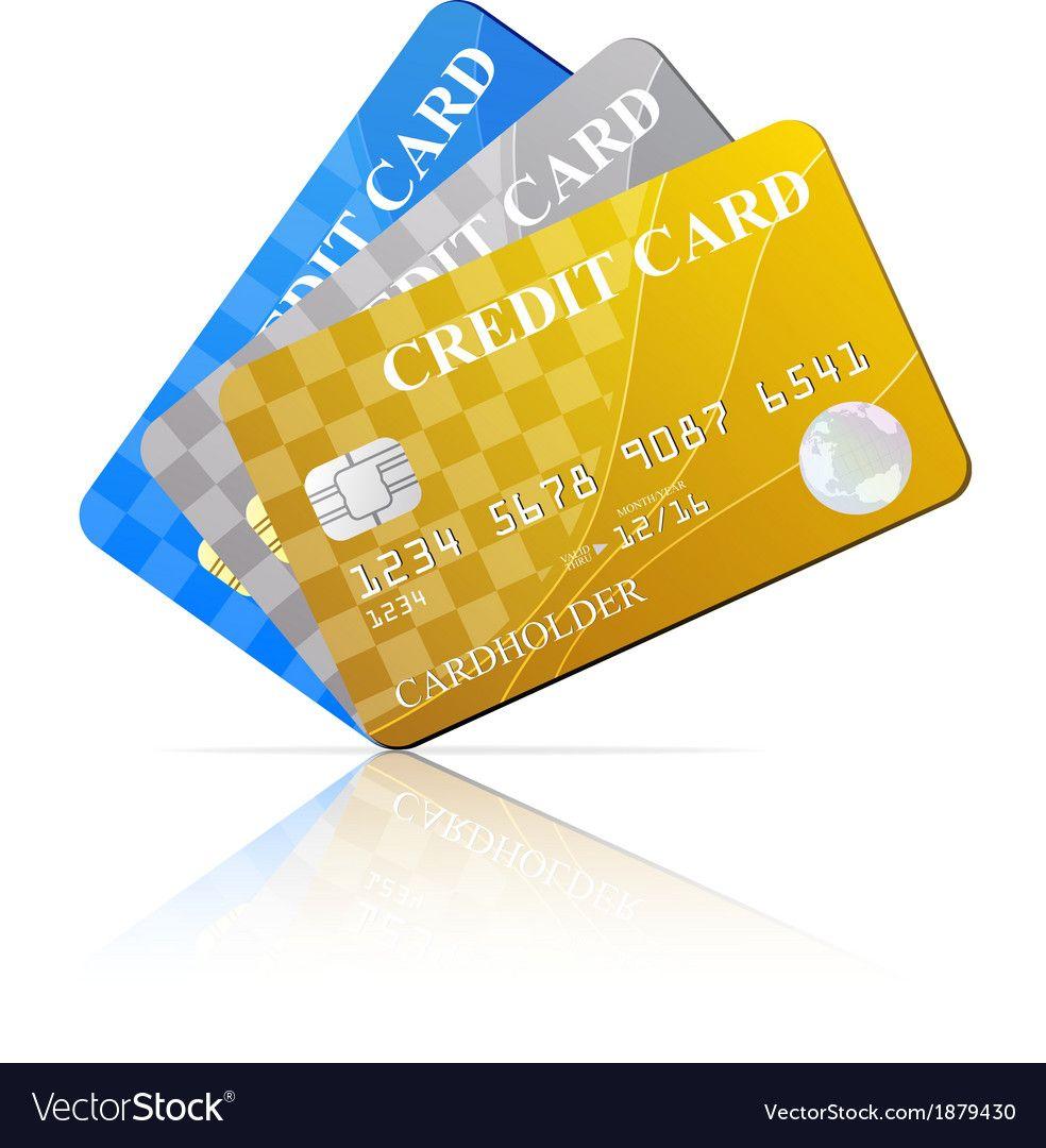 Credit cards set royalty free vector image vectorstock