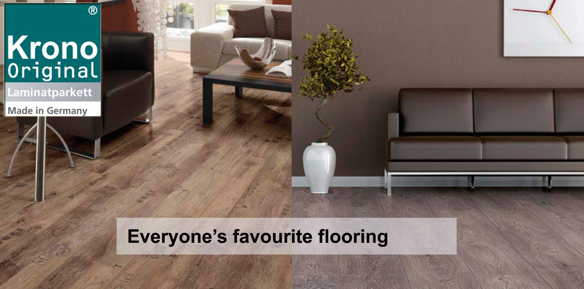 Krono Original laminate flooring comes in a range of colours and designs, in stone and authentic-looking wood, to suit your needs. To browse our selection of Krono flooring please click on the following link: http://creativeflooring.co.uk/krono-landing