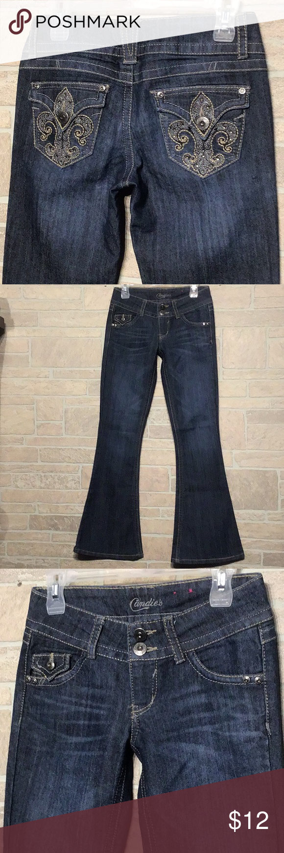 Candie S Sz 1 Bling Flare Jeans Like New Candie S Sz 1
