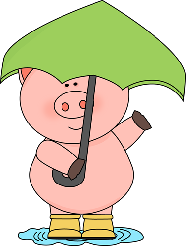 Pig In The Rain Clip Art Pig In The Rain Image Pig Art Pig Pictures Pig