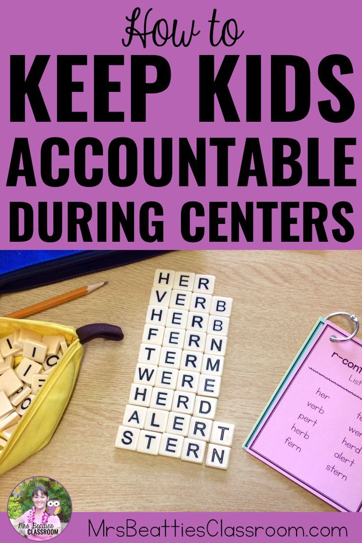 How to Easily Keep Kids Accountable During Centers Are you a teacher wondering how to monitor your