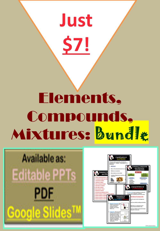 Elements Compounds Mixtures Bundle Google Slidestm Editable Ppt Pdf Teacher Resources Compounds And Mixtures Teaching [ 1440 x 998 Pixel ]