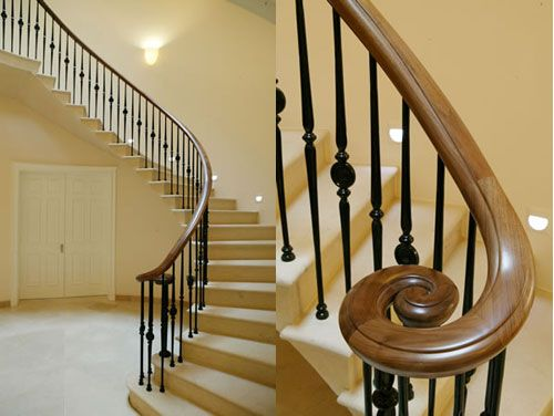 Best Curve Staircase And Detail Timber Handrail Stair 400 x 300