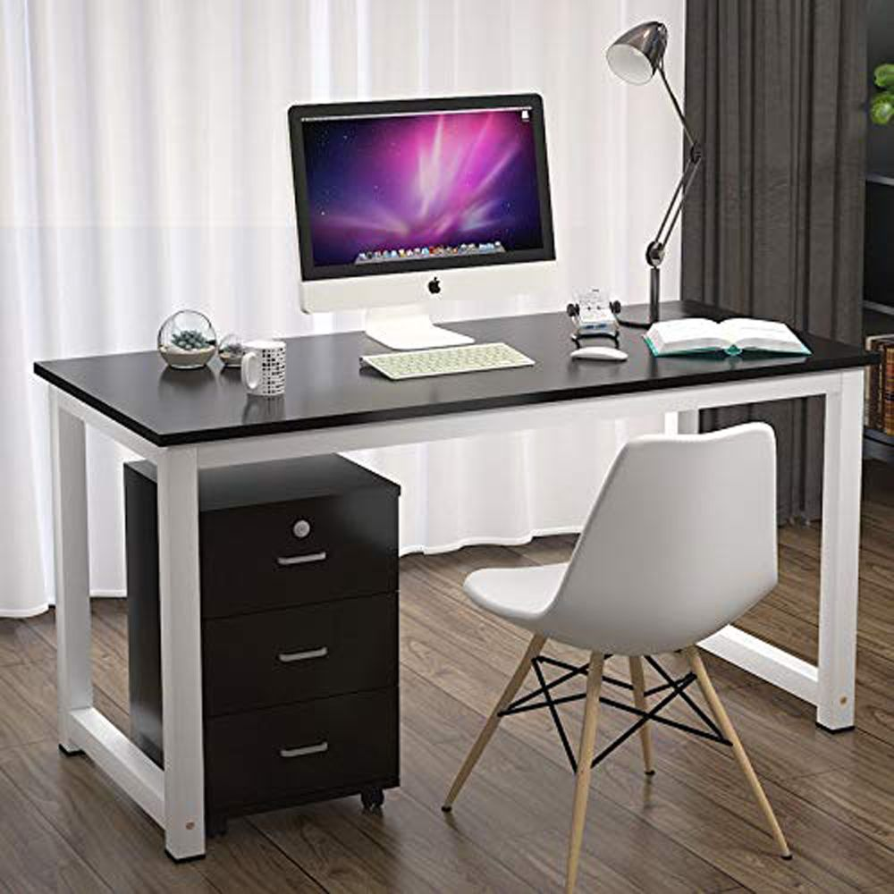 Ktaxon Wood Computer Desk Pc Laptop Study Table Workstation Home Office Furniture Walmart Com Home Office Computer Desk Wood Computer Desk Pc Desk
