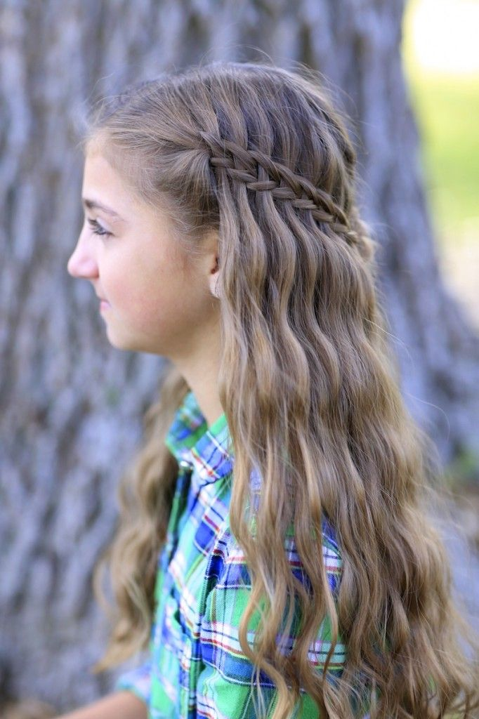 Cute Hairstyles For Girls Fascinating Scissor Waterfall Braid Combo  Cute Girls Hairstyles  Cute Girls