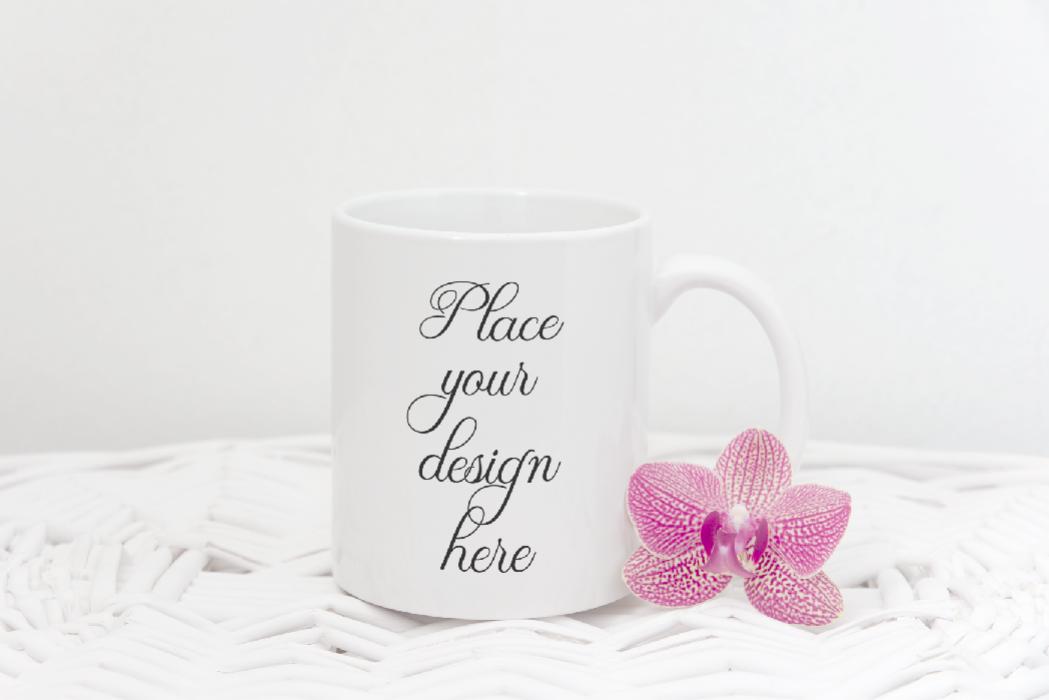 Coffee mug mock up, white mug mockup, cup template, rustic