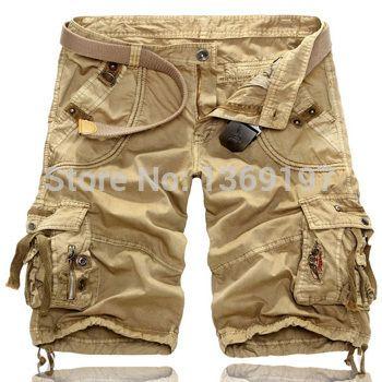 e0580d9b24 Encontrar Más Shorts Información acerca de Sólido Cargo Shorts hombres  militar con múltiples bolsillos Bermudas Bermudas aire libre Shorts hombres  verde del ...