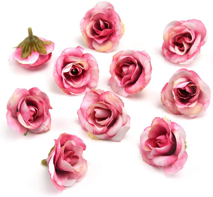 Photo of Fake flower heads in bulk wholesale for Crafts Peony Flower Head Silk Artificial Flowers Wedding Decoration DIY Decorative Wreath Fake Flowers Party Birthday Home Decor 30 Pieces 3.5cm (Colorful) – Pink / one size
