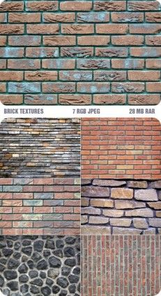 7 highdefinition brick wall texture pattern