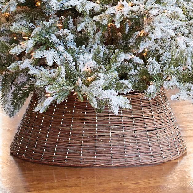 Willow Tree Ring Flocked christmas trees, White