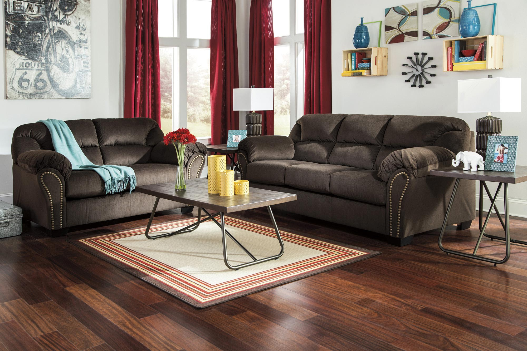Kinlock Brown Sofa Set Brown Sofa Set Couch And Loveseat Set Quality Living Room Furniture