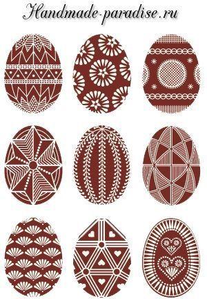 Роспись пасхальных яиц горячим воском. Для росписи яиц ...