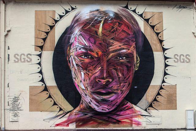 """Hopare è ora nel sud-ovest della Francia, dove ha appena finito una grande opera per le strade di Bayonne. Invitato dal """"Centre d'Art Spacejunk"""", l'artista francese ha creato uno dei suoi ritratti ..."""