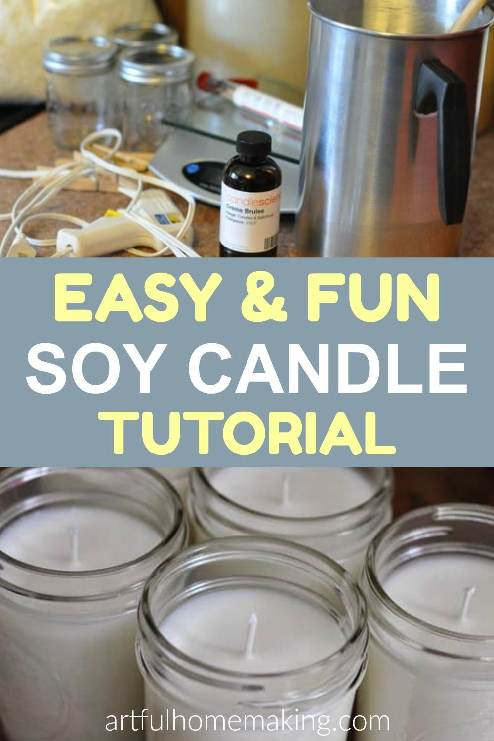 Make Your Own Mason Jar Soy Candles {Tutorial} Soy