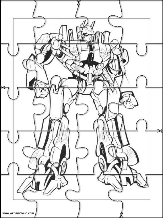 Printable jigsaw puzzles to cut out for kids Transformers 12 - new transformers movie coloring pages
