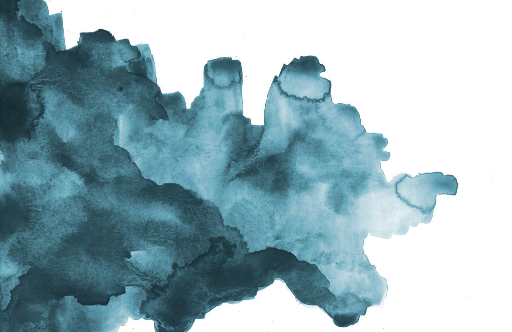 Papier Peint Tache Abstraite A L Aquarelle Bleu Canard Teal