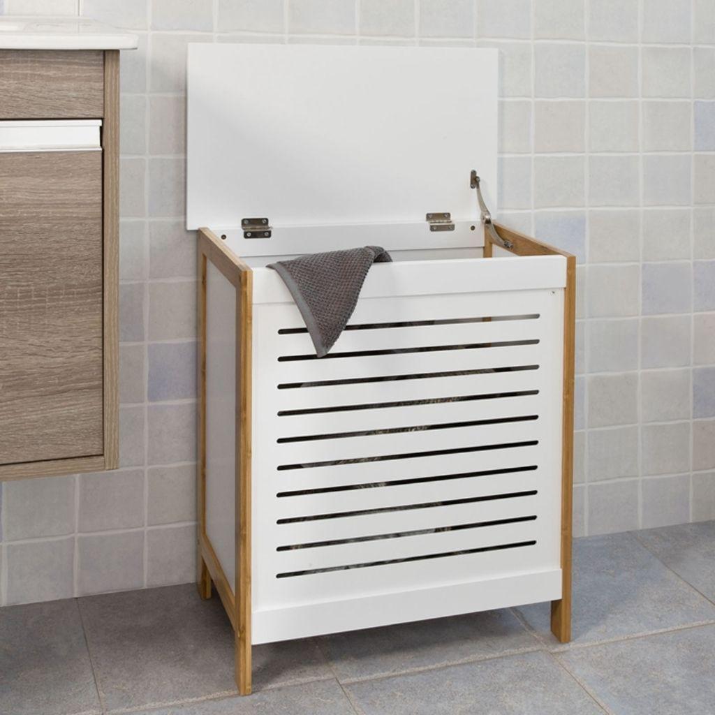 Sobuy Waschetruhe Waschekorb Waschebox Waschesammler Waschetonne Fss66 Wn Waschetonne Waschekorb Wasche Aufbewahrung