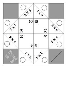 Cocottes pour apprendre les tables de multiplication en s for Methode apprentissage table de multiplication