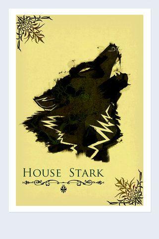 House of Stark Inspired Banner - Harshness - Artwork : JackThreads