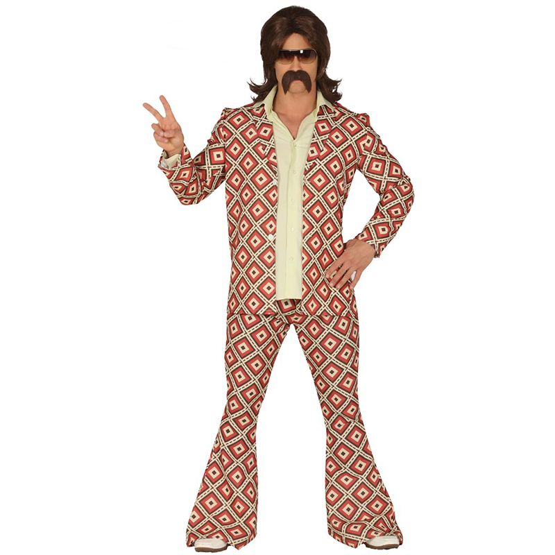 Années 70 homme robe fantaisie homme années 1970 Reto Groovy Disco Costume Adultes Costume Outfit