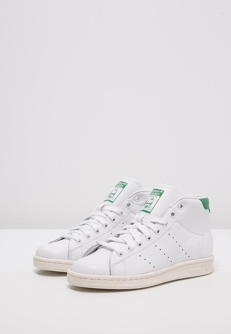 Footwear · adidas Originals STAN SMITH MID - Baskets montantes -  white/green/chalk white -