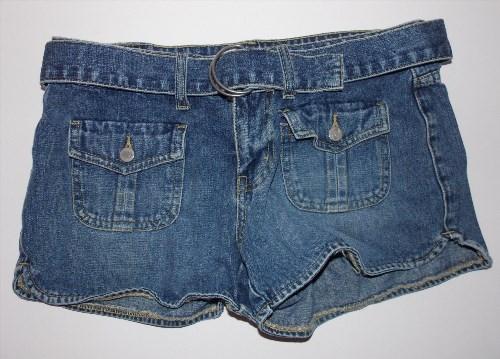 9.99$  Watch now - http://virik.justgood.pw/vig/item.php?t=h20k1wy30839 - Bongo Size 5 Jean Mini Shorts Denim 100% Cotton with Belt Let Me B 9.99$