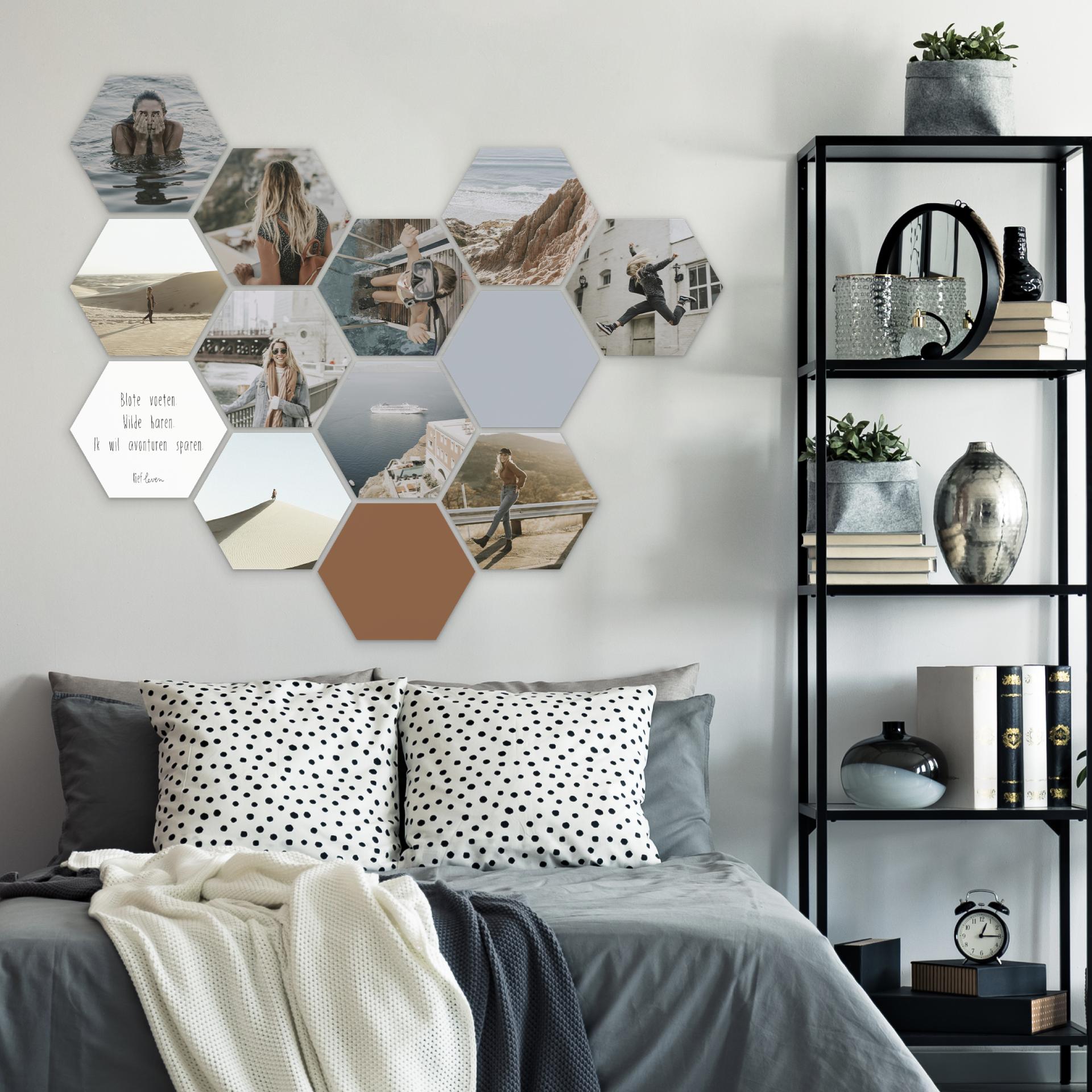 Hexagon Collage Slaapkamer Thuisdecoratie Slaapkamerideeen Thuis