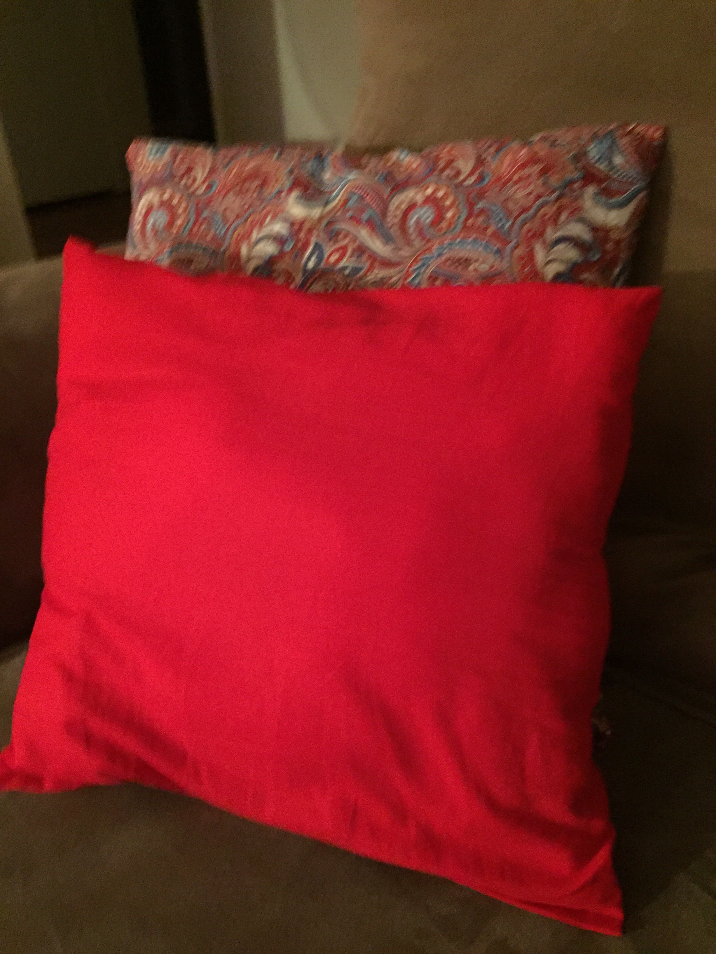 Throw pillows hand stitched