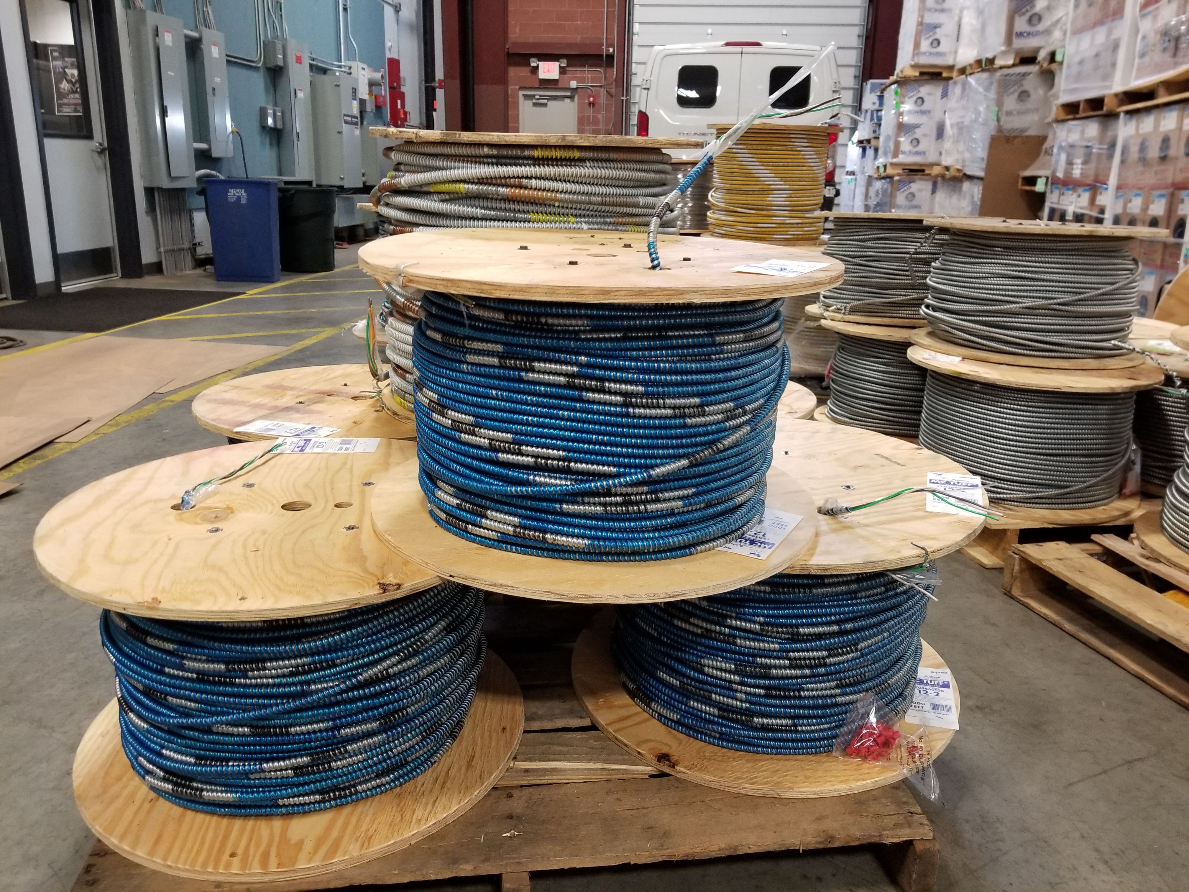 Reels of 12/2 MC w/ Steel Armor #metalclad #wire #cable #acewire ...