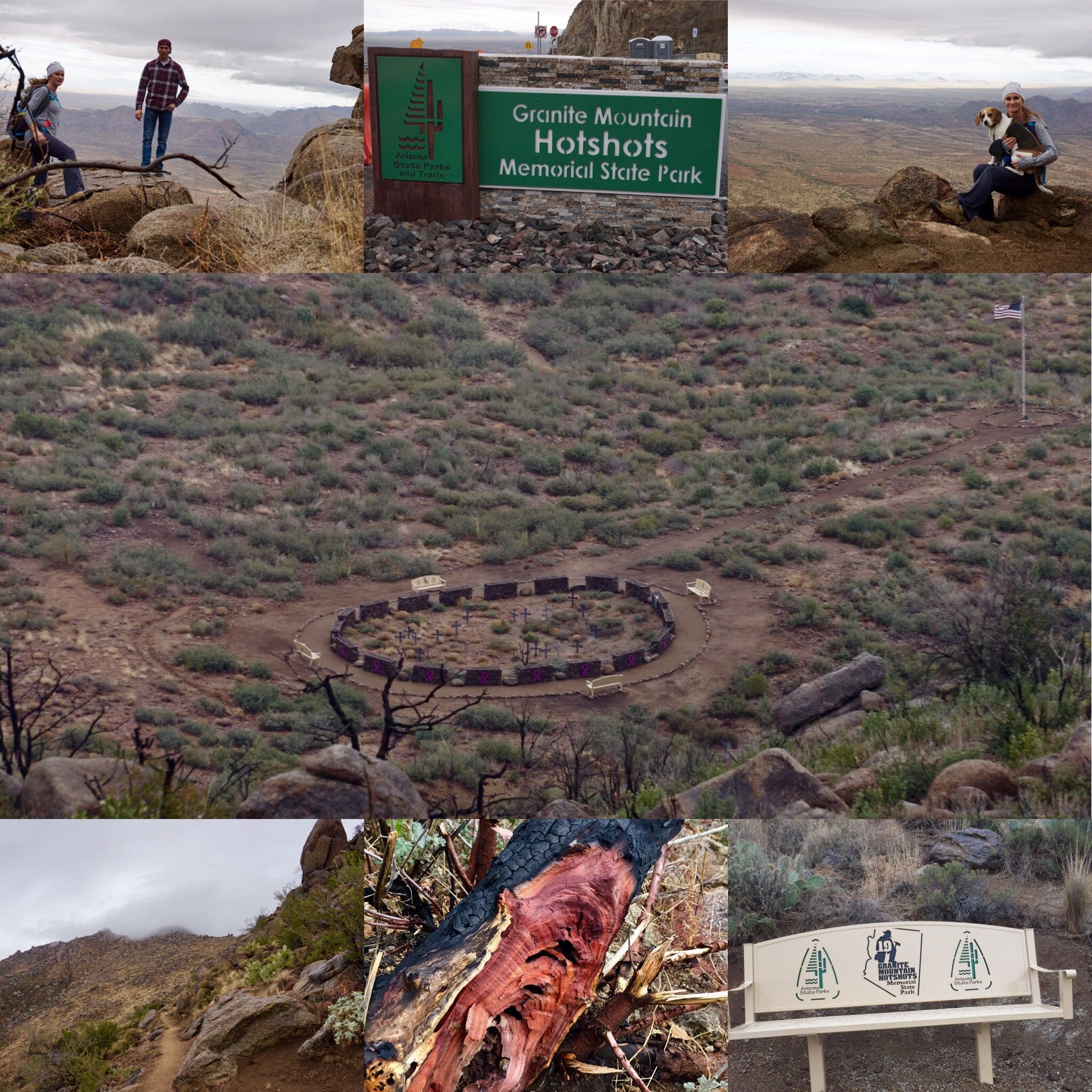 Granite mountain hot shot trail. Yarnell Arizona. Very beautiful memorial for those firefighters that lost their lives