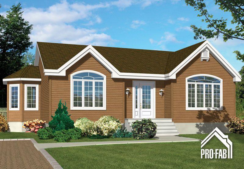 Pro-Fab | Constructeur de maisons modulaires, usinées, préfabriquées | Modèle Pivoine