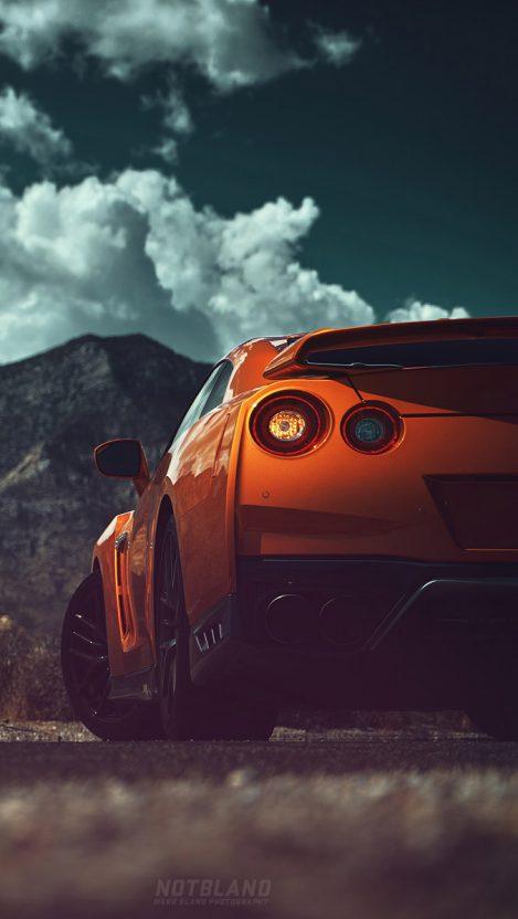 Nissan GTR Back iPhone Wallpaper Free GetintoPik