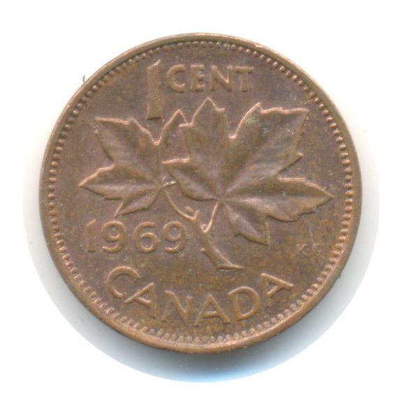 Canada 1 Cent 1969 Coins Saving Coins Canadian Money