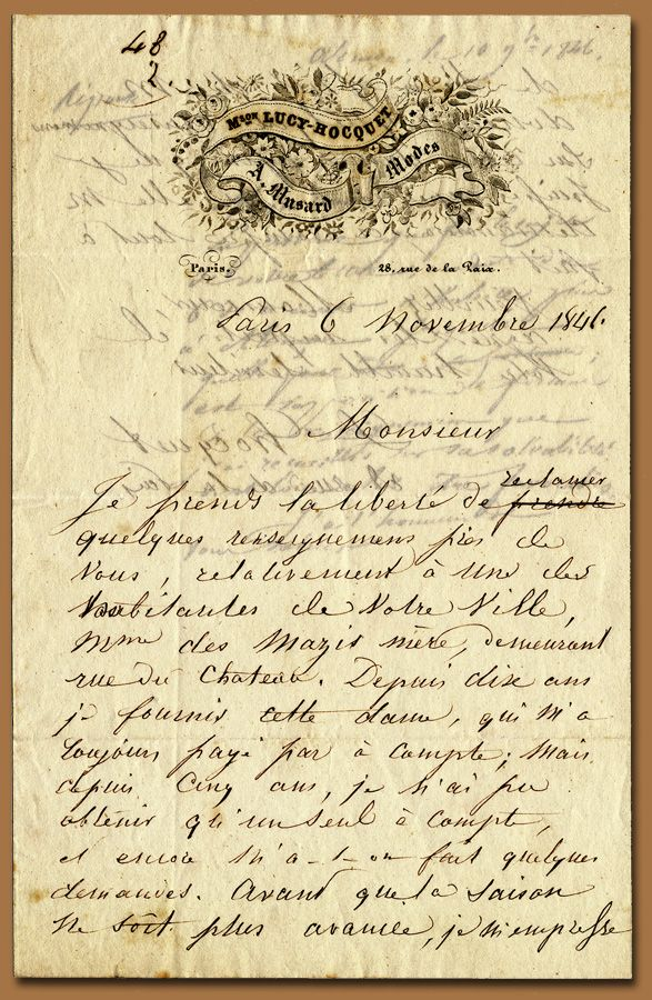 Mon Pere 2 - brocante vintage aged ephemera script