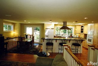 split level remodel open floor plan for the home