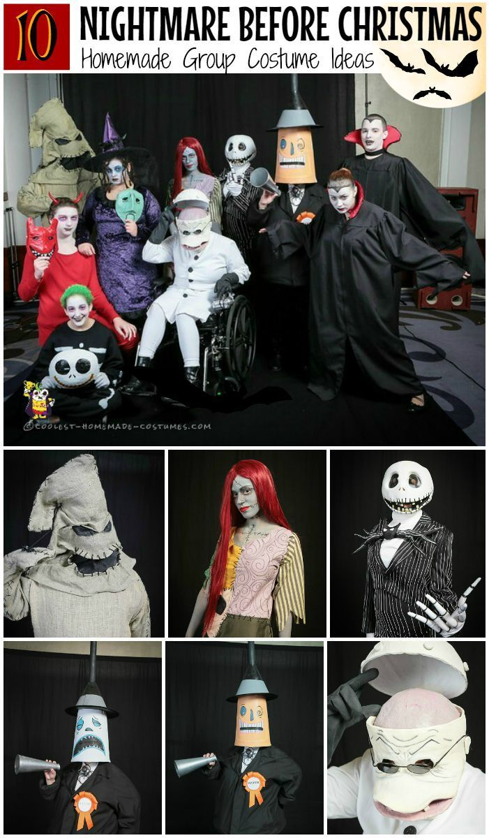 dfff473caca Coolest DIY Nightmare Before Christmas Group Costumes