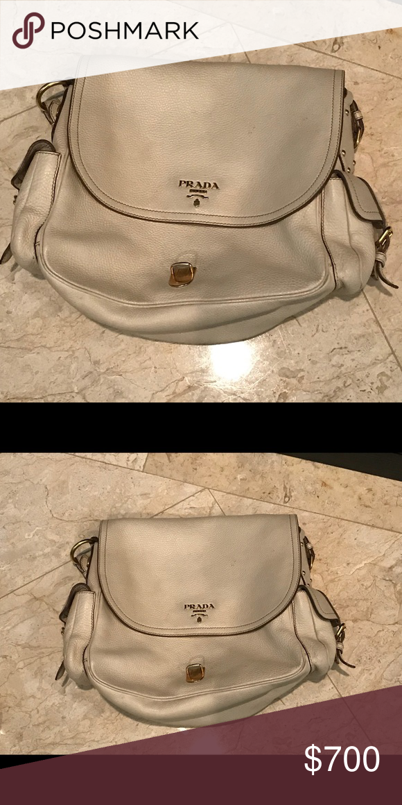 9d42f63de4cb Prada handbag Prada shoulder bag in a bone or light beige color. Prada Bags  Shoulder Bags