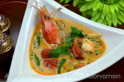 Tom Yum Goong, Thai spicy hot and sour soup with shrimp by The High Heel Gourmet