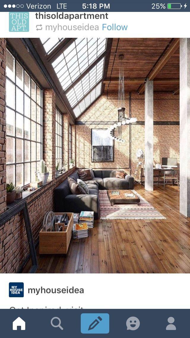 Windows lighting for the home in loft interiors interior design industrial also rh pinterest