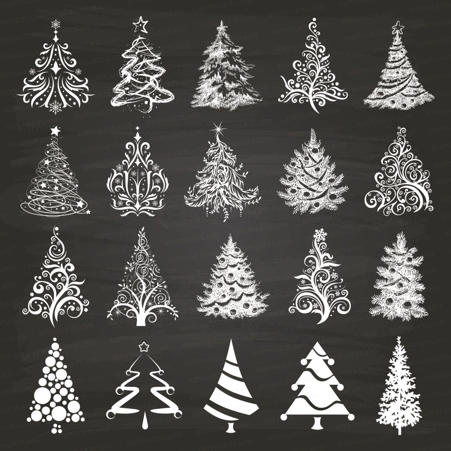 Digital Download Discoveries For Chalkboard Elements From Easypeach Com Christmas Chalkboard Art Christmas Chalkboard Christmas Tree Clipart