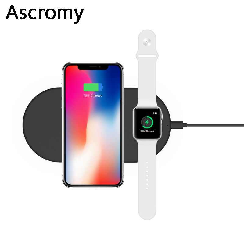 Find More Wireless Chargers Information About Ascromy Dual Wireless Charger 2 In 1 Qi Fast Charging Pad Fo Wireless Charger Samsung Galaxy Note 8 Galaxy Note 8