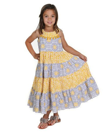 4e01601c3 Another great find on  zulily! Yellow Sara Tile Boho Woven Maxi ...