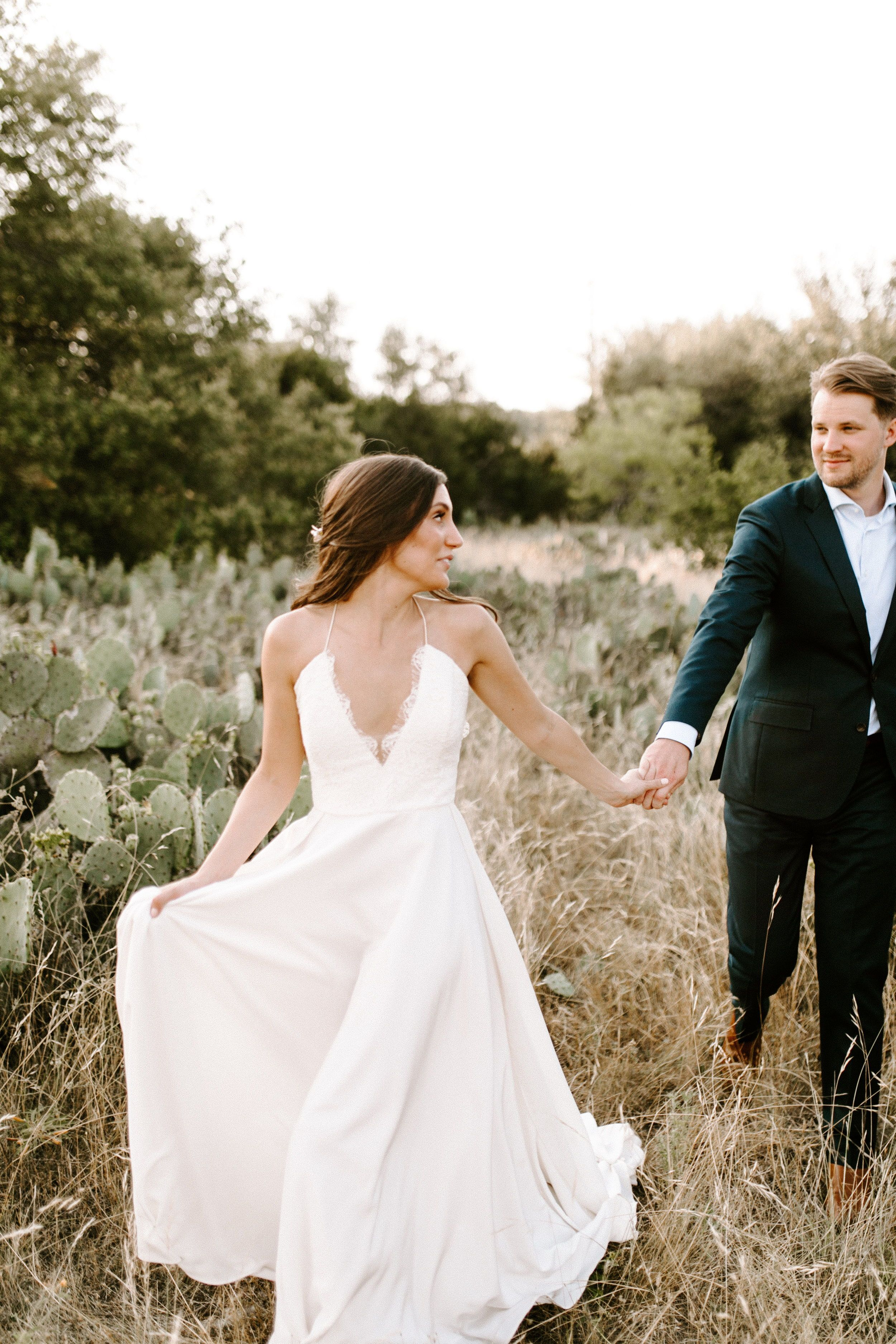 Real Wedding Kristina Grayson Simple Elegant Outdoor Wedding A Be Bridal Shop Simple Wedding Dress Boho Boho Wedding Dress Bohemian Wedding Dresses Lace