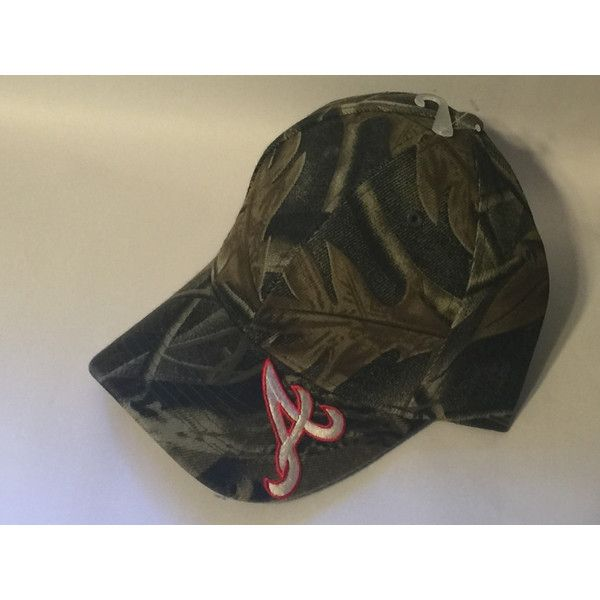 Atlanta Braves Mlb Logo Camo Hunting Hat New ( 9.99) ❤ liked on Polyvore  featuring accessories 63c76c18ff9
