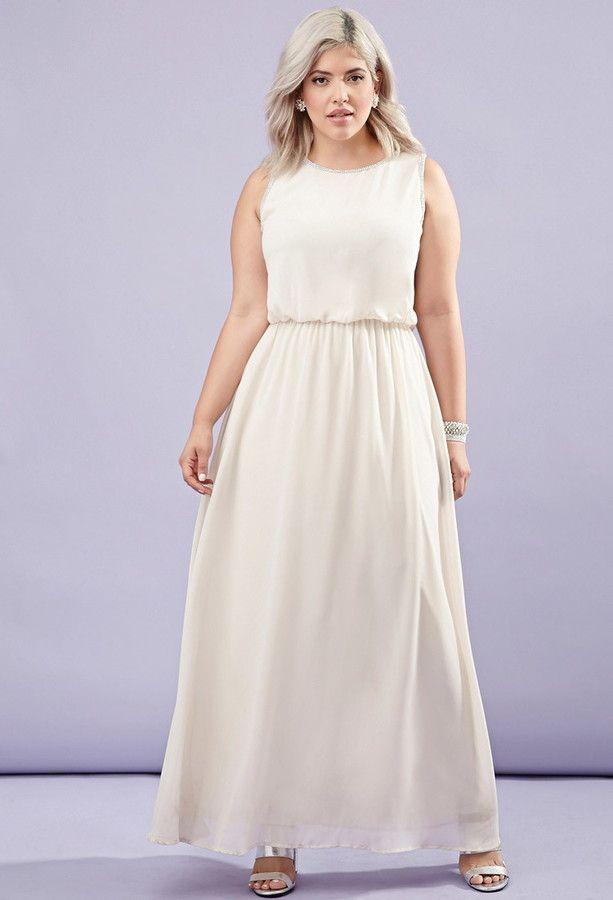 cf30005a821 Forever 21 FOREVER 21+ Plus Size Rhinestone Chiffon Maxi Dress ...